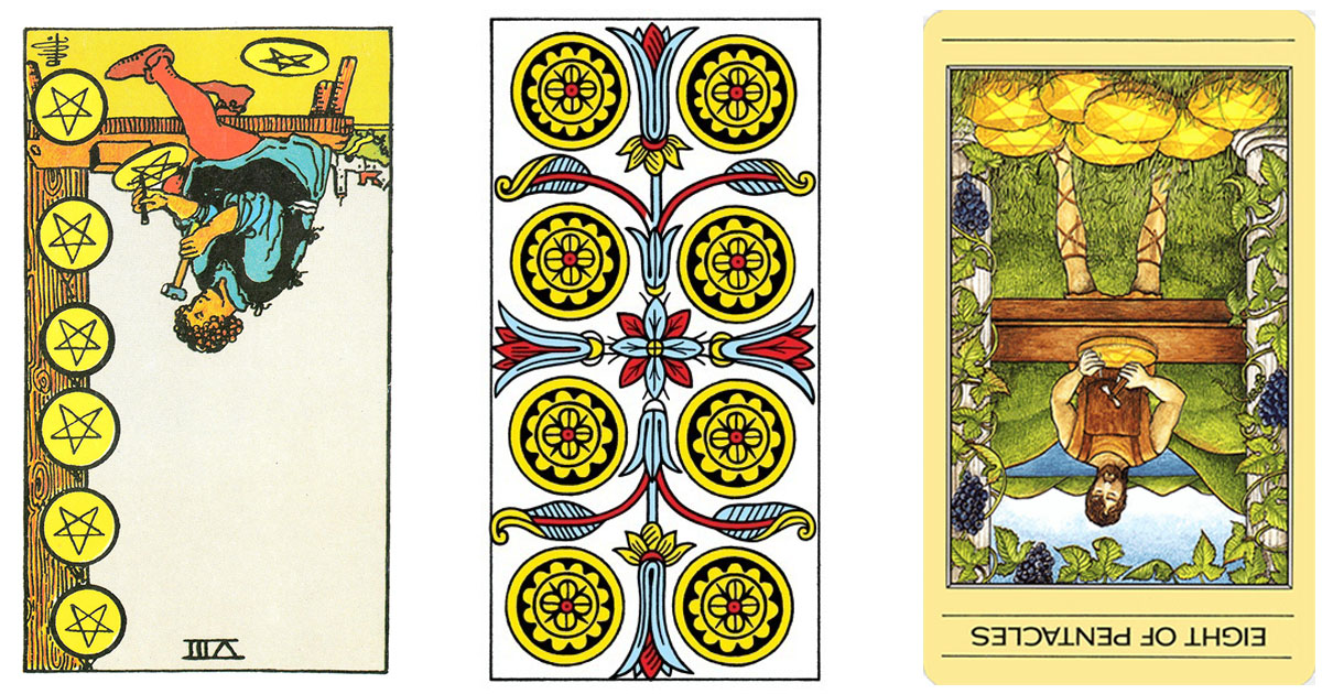 The Eight of Pentacles Reversed OpenGraph Image