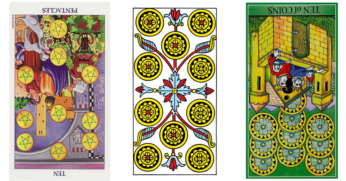 The Ten of Pentacles Reversed OpenGraph Image